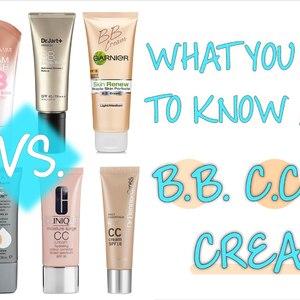 BB Cream, CC Cream, DD Cream Versus