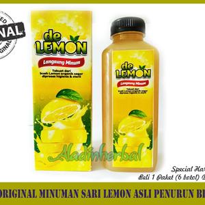 De Lemon Original Minuman Sari Lemon Asli Penurun Berat Badan