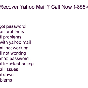 How To Recover Yahoo Mail ? Call Now 1-855-654-1777