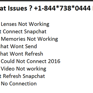 Snapchat Issues ? +1-844*738*0444 Dial