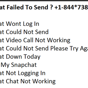 Snapchat Failed To Send ? +1-844*738*0444 Dial