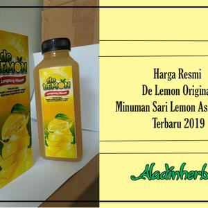 Harga Resmi De Lemon Original  Minuman Sari Lemon Asli Online Terbaru 2019