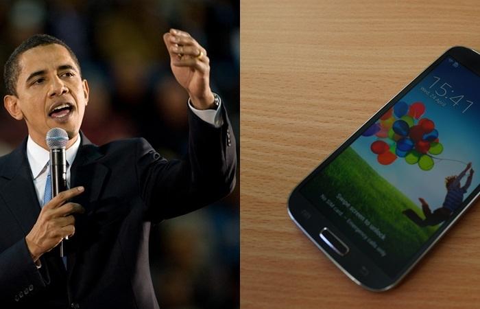 """Obama Ternyata Memakai Smartphone yang Seperti """"Mainan Balita"""""""