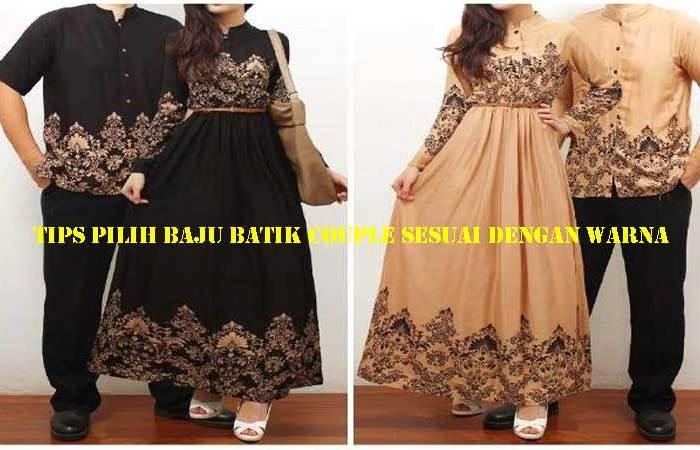 Tips Pilih Baju Batik Couple Sesuai Dengan Warna