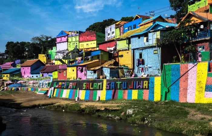 Kampung yang sarat dengan aneka design Mural dan Grafitty