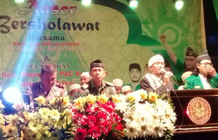 Ansor Bersholawat Bersama Junuudul Musthofa Dipadati Ribuan Jamaah