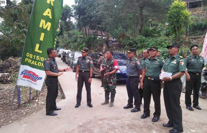 Danrem 082/CPYJ Tinjau Lokasi TMMD Desa Jembul - Mojokerto