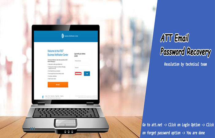 Acknowledge AT&T Support for Steps to Recover Password