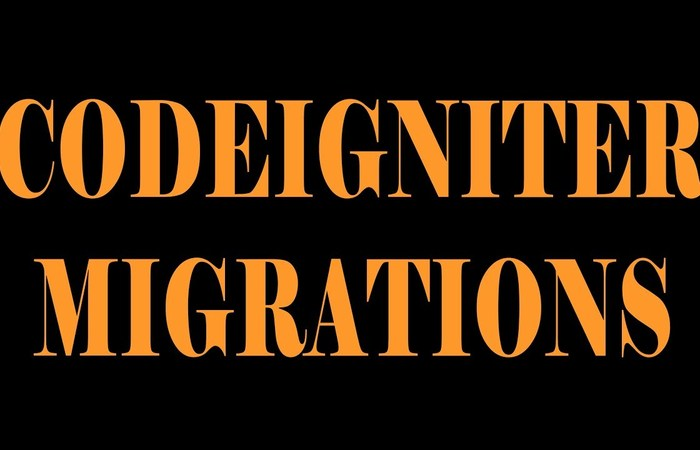 Migration di codeigniter