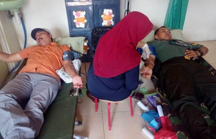 Peran Serta Koramil 0815/13 Kutorejo Dalam Baksos Donor Darah