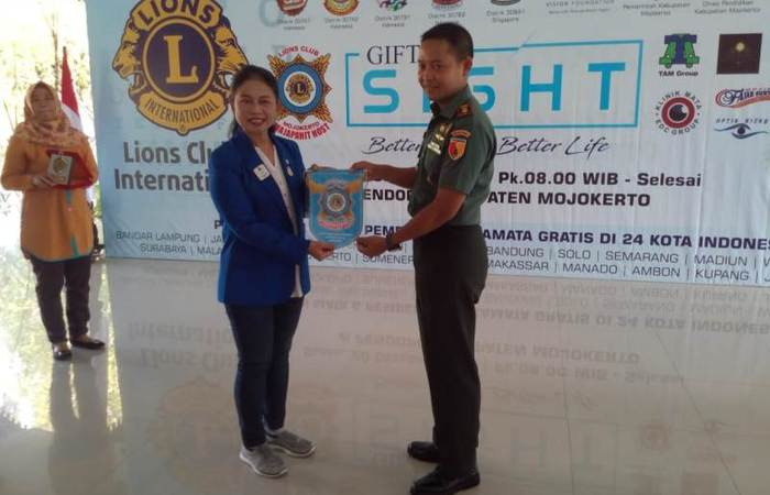 Dandim 0815 Apresiasi Program Gift of Sight Lions Clubs Di Mojokerto