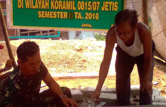 Peduli Kesehatan Koramil 0815/07 Jetis Gelar Program Jambanisasi