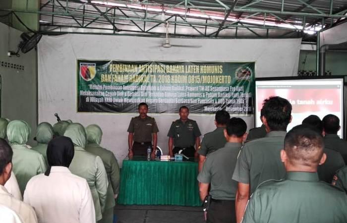 Kodim 0815 Mojokerto Sosialisasikan Antisipasi Balatkom