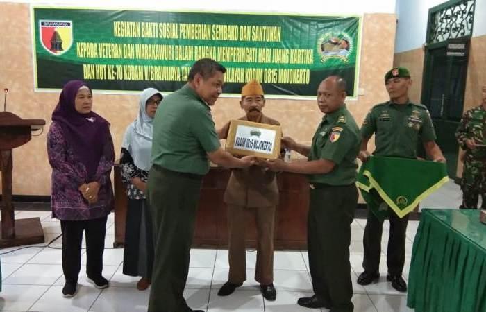 Jelang HJK Kodim 0815 Mojokerto Gelar Baksos Untuk Veteran & Warakawuri