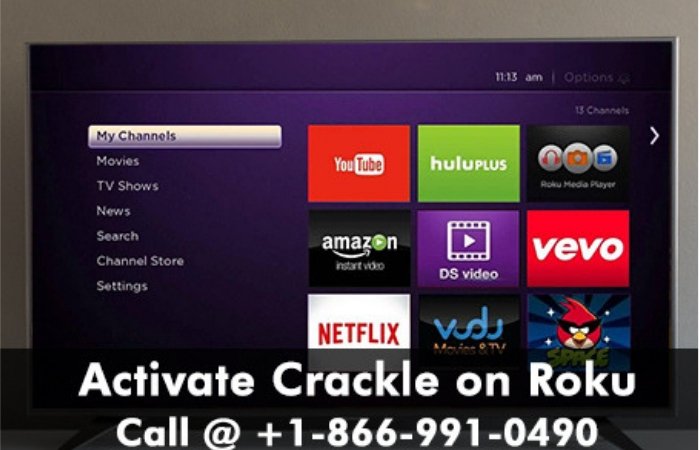 Activate Crackle and watch free movies on Your Roku device.