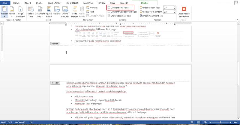 Menggunakan Penomoran Halaman Otomatis Di Microsoft Word