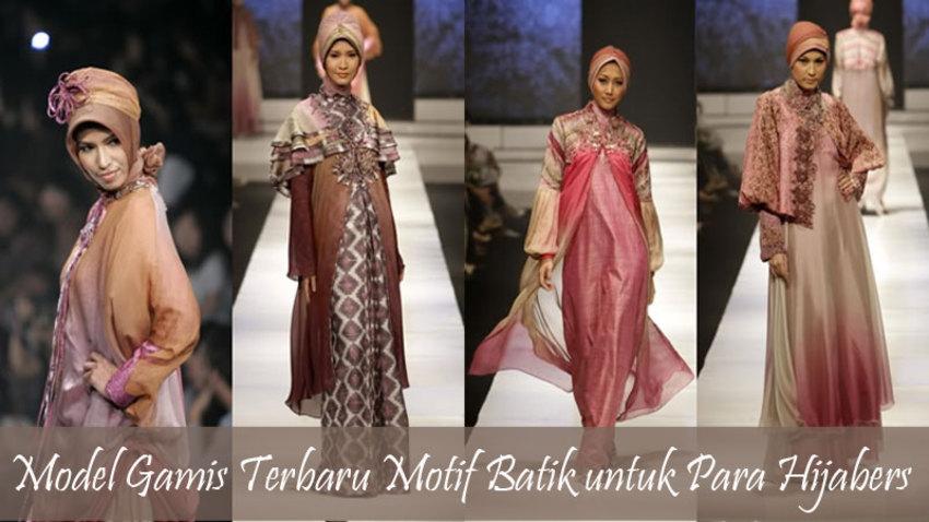 Model Gamis Terbaru Motif Batik Untuk Para Hijabers Article