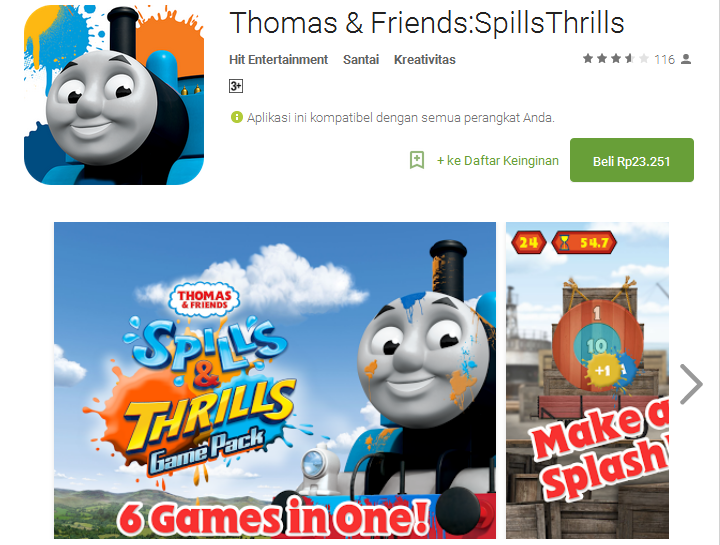 5 Games Android Thomas and Friends