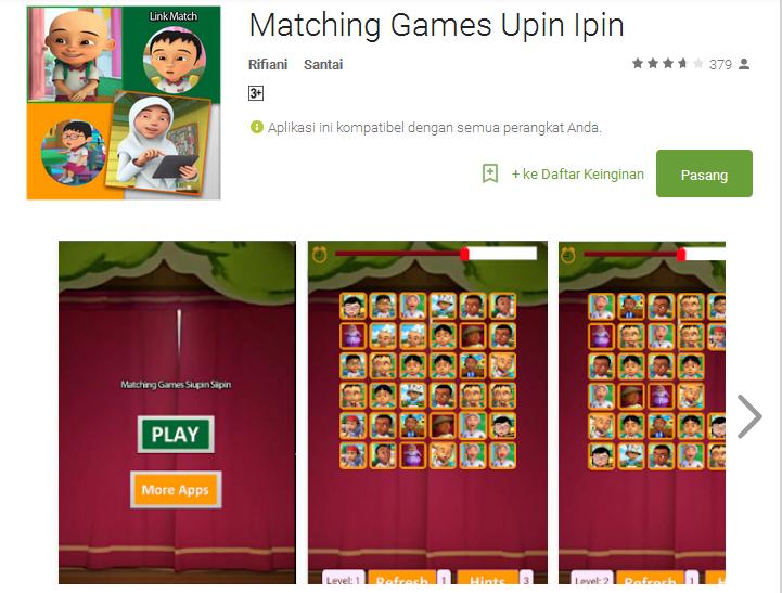 7 Game Android dengan Tema Upin Ipin
