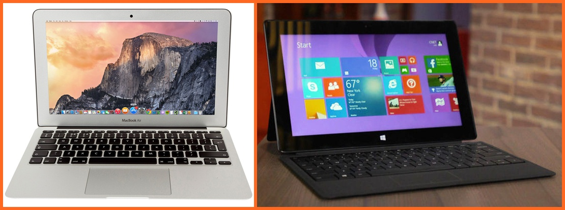 Adu Spesifikasi Microsoft Surface Pro 4 vs MacBook Air 13 Inch 2015