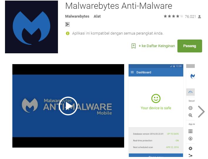 5 Antivirus Terbaik untuk Android di Bulan Mei 2016